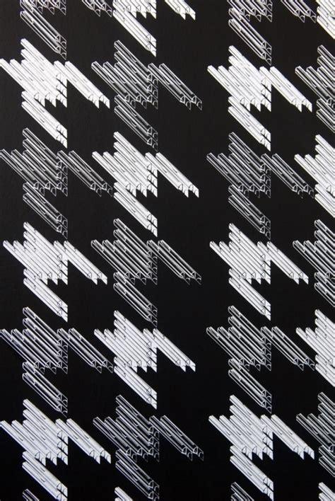White Black Kets black white on black printed wallpaper
