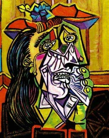picasso paintings described this would be in a bathroom because cry in