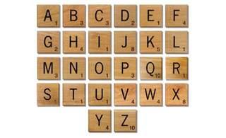 novelty solid oak scrabble letters wall