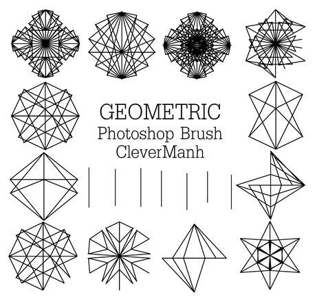 geometric pattern brush abstract geometric brushes brushes fbrushes