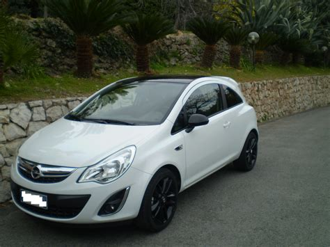 opel white opel corsa restyling white from italy