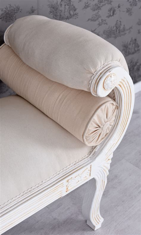 gartenmöbel shabby chic barockes sofa weiss shabby chic volutensofa liege