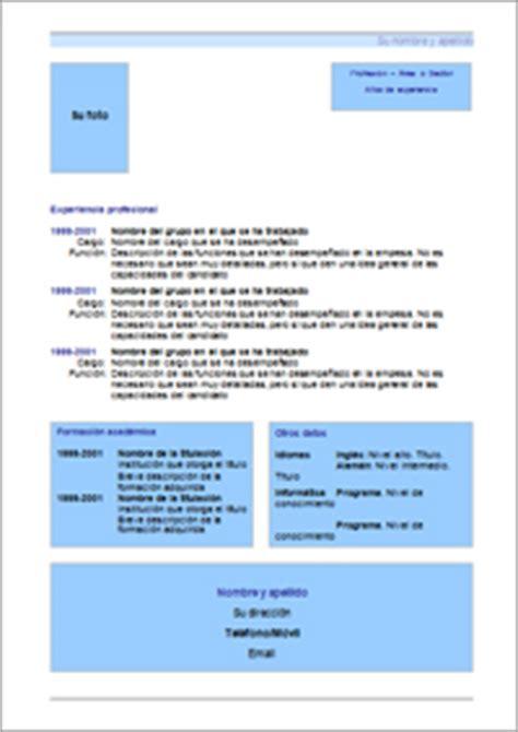 Plantilla De Curriculum Vitae Funcional O Tematico Modelo De Cv Cronol 243 Gico