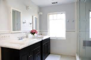 black bathroom vanity with white marble top contemporary