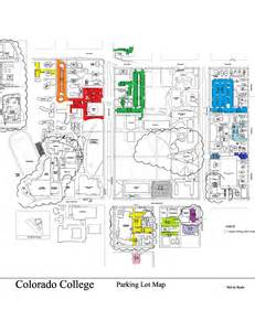 map of colleges in colorado parking lot map parking colorado college