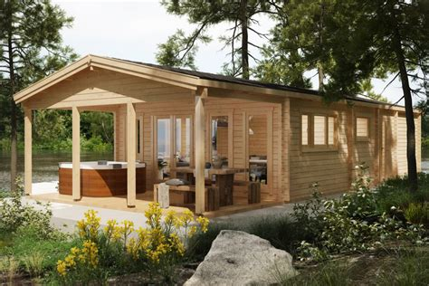 large log cabin large log cabin a quot the lake house quot 58m2 92mm