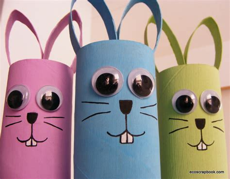 Toilet Paper Roll Bunny Craft - 12 adorable easter crafts for