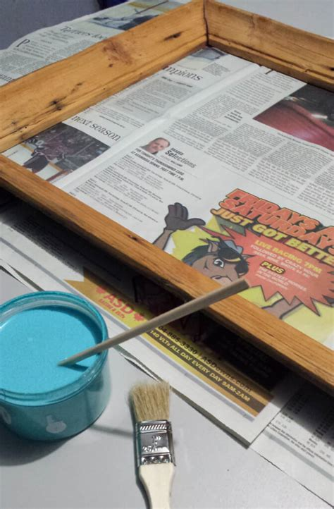 acrylic paint drying time on wood how to repurpose chopsticks to make a picture frame holder