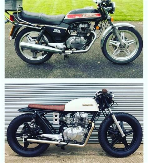 brat hackney cafe racer custom 1981 honda superdream brat style