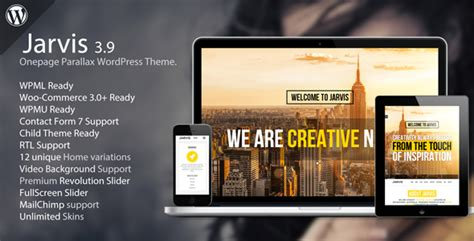 html parallax themes jarvis onepage parallax wordpress theme by