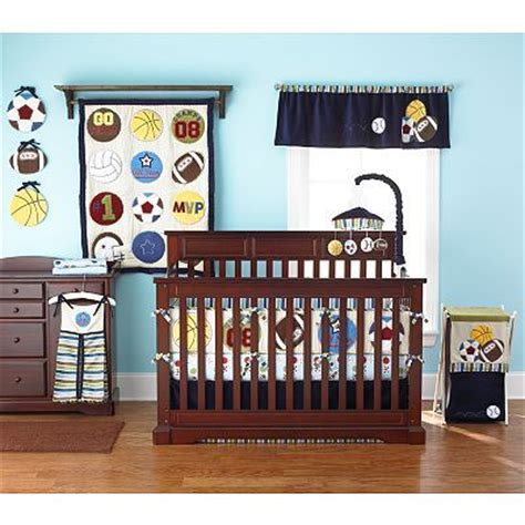 Crib Bedding Sports Theme Probably The Only Sports Themed Nursery Bedding I Like Boy Room Pinterest Shelves