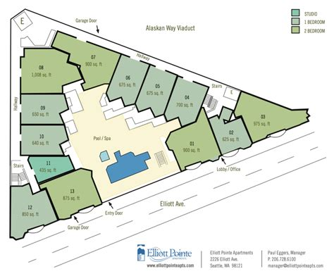 seattle neighborhood map belltown site plan elliott pointe aparments located in the