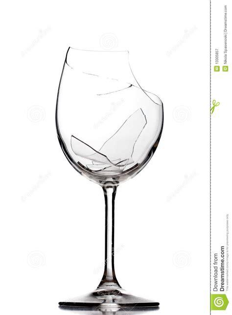 Shattered Trident gebroken wijnglas royalty vrije stock fotografie