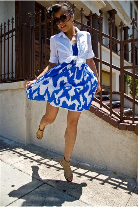 blue dresses white blouses beige shoes quot i said jump