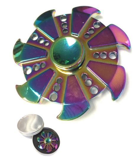 Spinner Rinbaow Spinner Metal 20 units of fidget spinner rainbow metal pinwheel at alltimetrading
