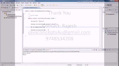 tutorial java core core java concepts string tutorial part1 youtube