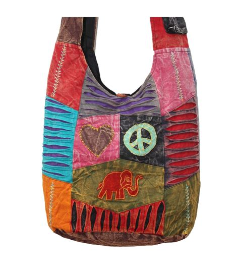 Applique Shoulder Bag elephant applique work shoulder bag work shoulder bags