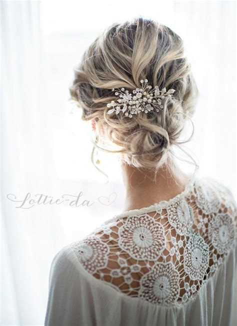 Wedding Flower Hair Comb boho wedding hair www pixshark images galleries