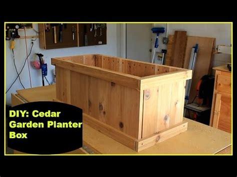 Cladded diy cedar garden planter box youtube