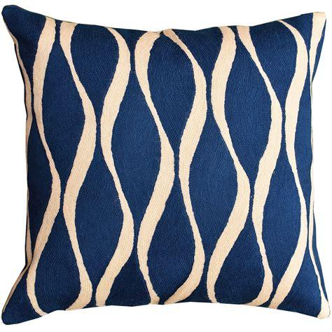 Contemporary Pillows Contemporary Waves Midnight Blue Decorative Pillow Cover