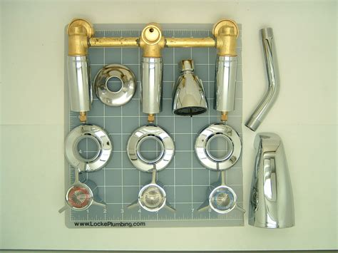 Sayco Plumbing Parts by Sayco 308 2 Three Handle Tub And Shower Faucet With Metal