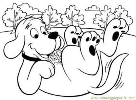 free coloring pages of clifford the red dog