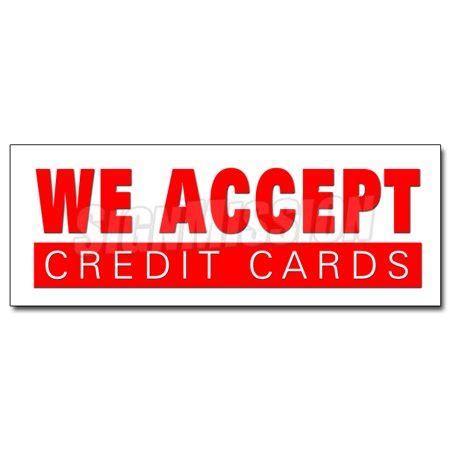 we accept cards sticker template 36 quot we accept credit cards decal sticker visa mastercard