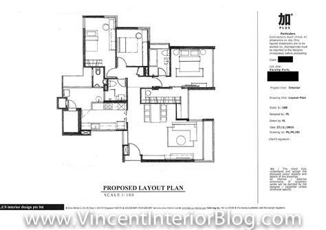floor plan interior design varsity park condominium renovation by plus interior