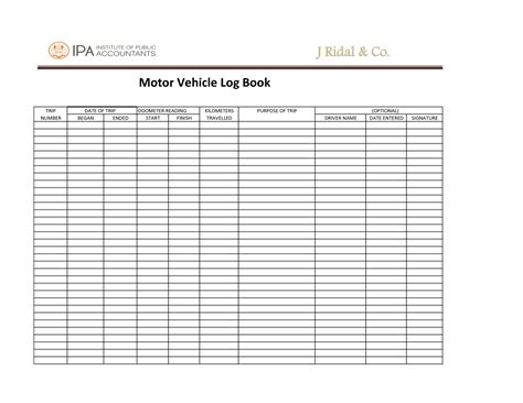 printable log book for vehicles search results for dot driver log book templates
