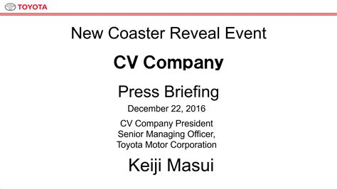 toyota company details cv company briefing toyota global newsroom