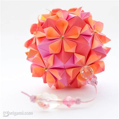 tutorial origami cherry blossom cherry blossom ball by tomoko fuse go origami