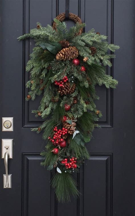 door swag christmas wreaths holiday decor wreaths swags