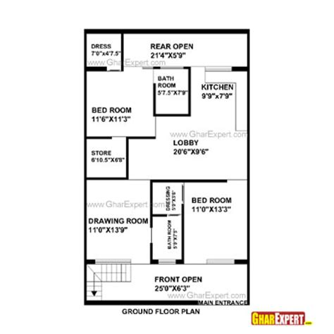 1 gaj in sq feet collection of 1 gaj in sq feet house plan for 30 feet by
