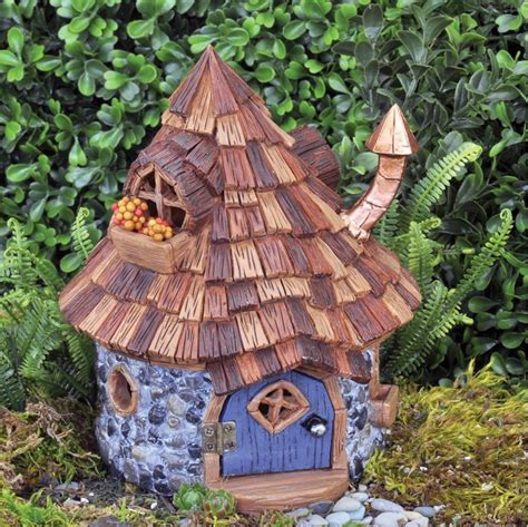 gnome house shingletown cone top fairy house