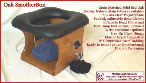 queening bench solid oak smotherbox bdsm queening chair facesitting
