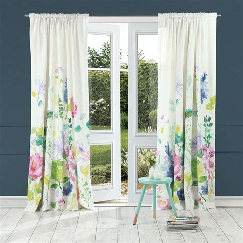 Tetbury Meadow Curtains Ready Made Curtains Bluebellgray