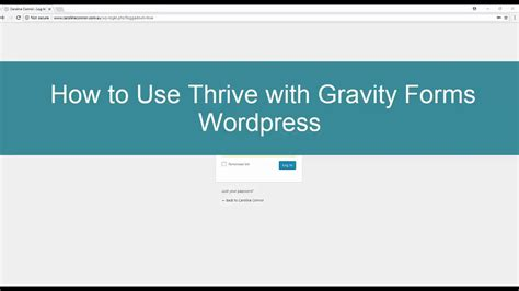wordpress gravity forms tutorial how to use thrive page builder with gravity forms