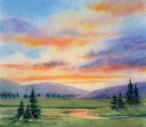 tutorial watercolor landscape evening blessing watercolor 7 x 8 quot barbara fox