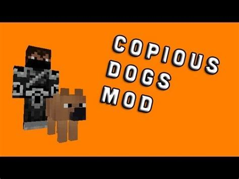 copious dogs mod a minecraft mod review youtube
