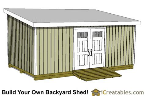 12x24 Shed Cost by 12x24 Lean To Shed Plans Build A Large Lean To Shed