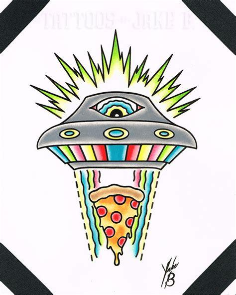 jakeb ufo pizza overseer ufo eye pizza alien food nerd