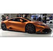 Copper Wrapped Lamborghini Huracan Gets Gaping Carbon