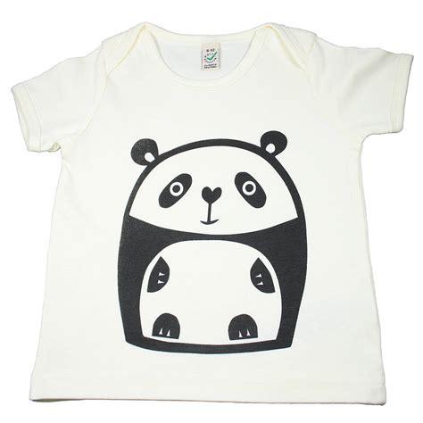 Panda Tshirt panda organic cotton t shirt by nell notonthehighstreet