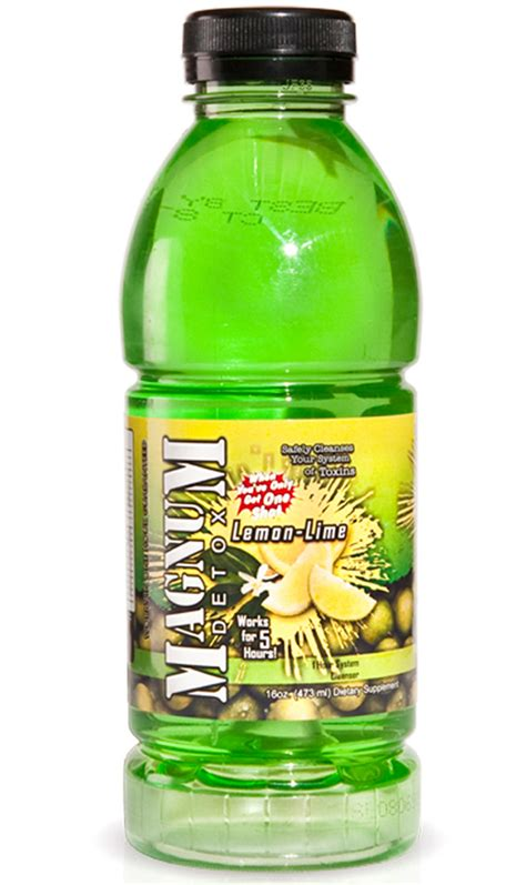 Detox Drinks Flush Toxins by Magnum Detox 16 Oz Lemon Lime Flavored Drink Toxin