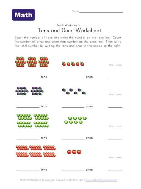 printable tens and units worksheets common worksheets 187 tens and ones printables preschool