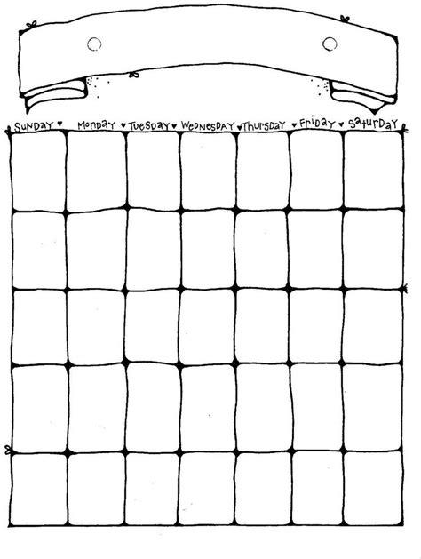 ideas blank calendar pinterest blank