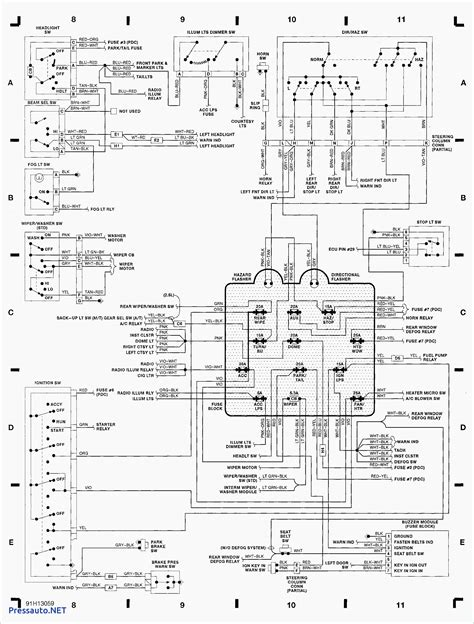 92 jeep wrangler headlight wiring wiring diagrams wiring