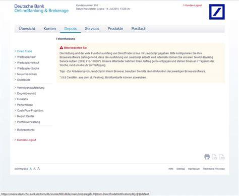 Websign Deutsche Bank Direct Trade Java Www