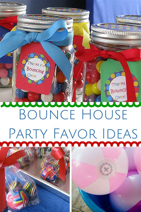 bouncing houses for birthday parties bounce house party favor ideas