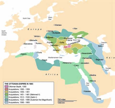 Ottoman Expansion Map The Ottoman Empire Maps